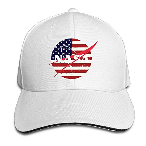 Hittings NASA Sandwich Peaked Hat/Cap White
