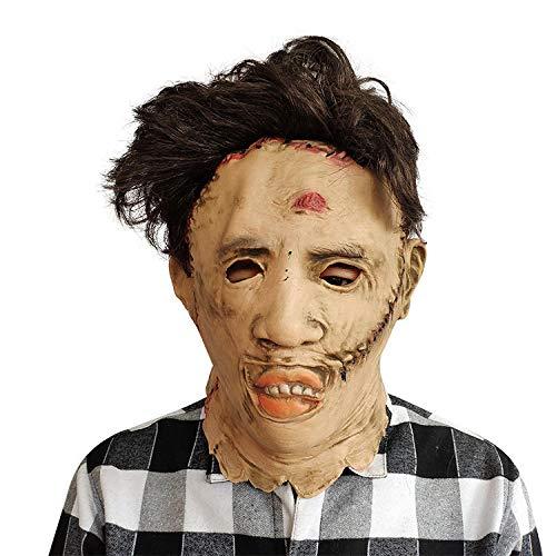 Mann Kettensägen Kostüm - SHIYAREN Halloween-MaskeHalloween Horror Maske Kettensäge Mord Maske Maske Cosplay Party