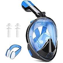 INTEY Schnorchelmaske Tauchmaske 180° Blickfeld Vollmaske mit Anti-Fog und Anti-Leak, Freies Atmen für Erwachsene und Jugendliche