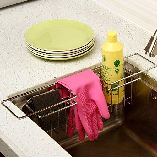 Liing Edelstahl Spüle Drainboard Drip Rack Küche Ablagekorb 100 Sauberen Tuch Handschuhe Storage Rack, Hellgrau (Freistehende Edelstahl-spüle)