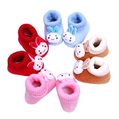BZLine® Baby Schuhe Walking Kleinkind Mädchen Jungen Krippe Schuhe Stiefel Rot