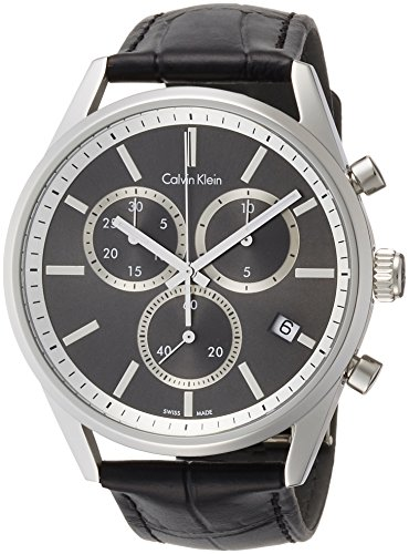 Calvin Klein Men's Analogue Quartz Watch with Leather Strap K4M271C3
