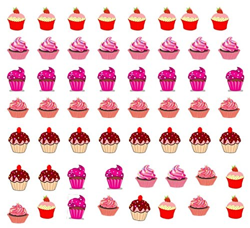 Cupcake Stickers Nail Art