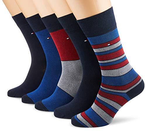 Tommy Hilfiger Herren TH Men BIRDEYE GIFTBOX 5P Socken, Mehrfarbig (Tommy Original 085), 39/42 (Herstellergröße: 039) (5erPack) -