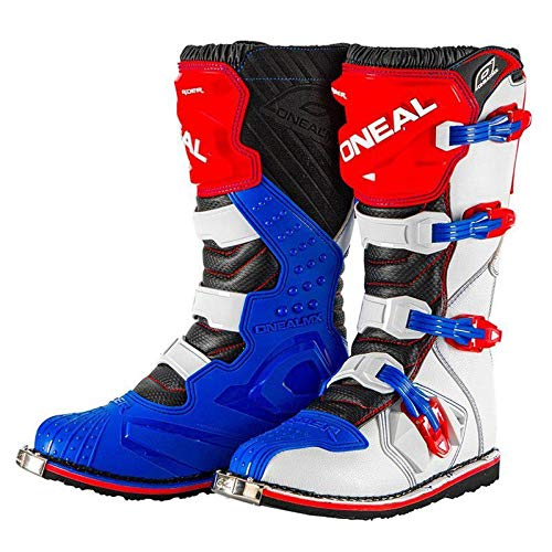 0329-712 - Oneal Rider EU Motocross Boots 46 Blue Red White (UK 11)