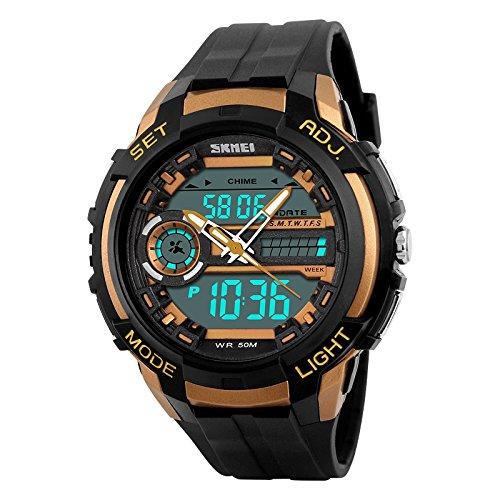 Skmei SKM-AD1202-GOLD S-Shock Analog-digital Watch For Unisex