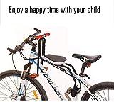 FEZBD Sella per Bici, seggiolino per Bicicletta Seggiolino Anteriore per Bambino Seggiolino per Bicicletta con Maniglia Staccabile,Black