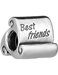 Best Friends auténtica plata de ley 925compatible con pandora) pulseras