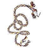Baoblaze Bunt Vogel Seil Sitzstange Baumwoll Klettern Seil Papagei Vogel Spielzeug 1.4m