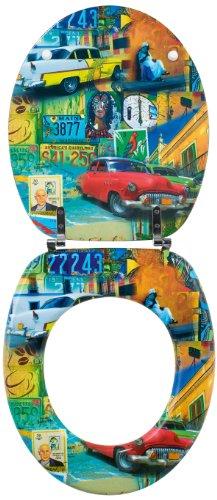 Preisvergleich Produktbild Wirquin Toilettensitz Trendy Line 20718772, mit Kuba-Motiv, mehrfarbig