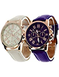 Geneva Platinum Combo Multi-Colour Women's Timepiece - GP-286