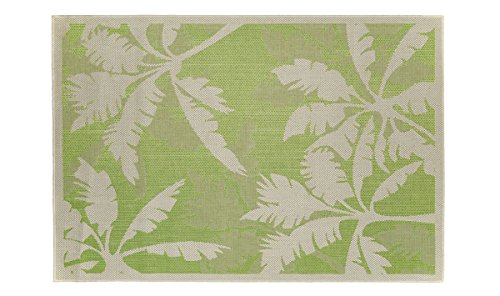 Teppich Indoor Outdoor Leicht Reinigen Stil Tropical Palms Green 160_x_230_cm grün (Outdoor-teppich Tropical)