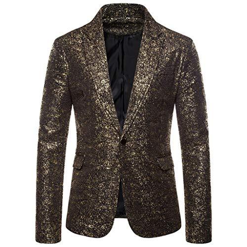 Kostüm L'rain - Plot Herren Anzug Jacke EIN Knopf Pailletten Blazer Casual Anzugjacke Slim Fit Sakko Mantel Uniform Kostüm Performance für Hochzeit und Party