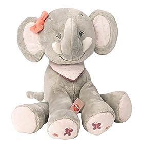 Nattou- Adèle & Valentine NA424011-Set de Regalos para recién Nacidos, Color elefante adèle, 28 cm (424011)