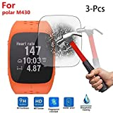 Colorful Für Polar M430 Schutzfolie, HD Ultradünn Gehärtetes Glas Schutzfilm 9H Härte Bildschirmschutzfolie für Polar M430 Smartwatch (3 Stück)