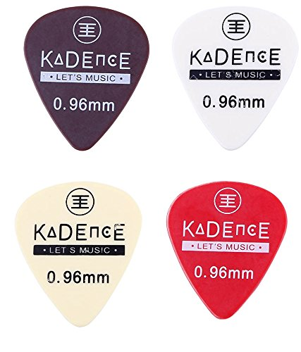 Kadence pack of 4 Guitar Picks, 0.96mm Mixed Colours