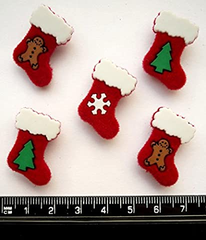 Christmas Stockings - Novelty Craft Buttons & Embellishments by Dress