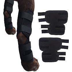 Hunde-Bein-Stützklammer-Canine-Hinterhockgelenk-Klammer, Kompressions-Verpackungs-schützen Wunden / heilen Verletzungen und Verstauchungen helfen Verlust der Stabilität verursacht durch Arthritis (L)