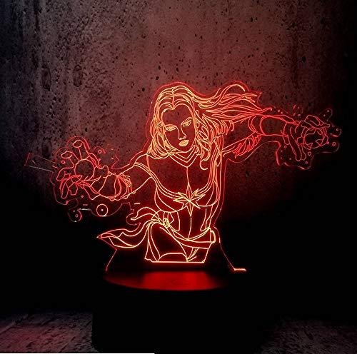3D Lampe LED Beleuchtung Surper Mädchen Schlafzimmer Dekor Nachtlicht Movie Fans Geschenke LED Lava Anzeige Teenager - Raum - Dekor - ()