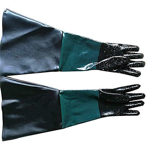 Sandstrahl-Handschuhe aus Gummi, 59,9 cm, robust, Sandstrahl, Sandstrahl, Körnung und Perlen, für Modell 60, 90, 110, 260 Sandstrahlkasten, 1, 2 -