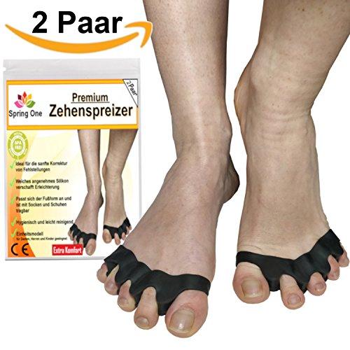2 Paar Zehentrenner für Damen und Herren, Gel Zehenspreizer