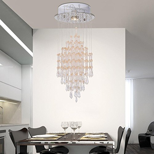 moderno filo di cristallo lampadario semplice ed