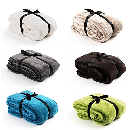 Hochwertige Kuscheldecke versch. Größen & versch. Farben wählbar - Tagesdecke, Bettüberwurf,...