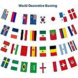 Yisscen WM Flaggen, Russland WM 32 Länder String Fahnen, Fußball String Flaggen Banner Perfekt für Haus, Bars, Pubs und Garten Dekoration (14X21cm)