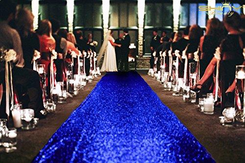 fer, 3ftx15ft Sparkle Gang Runner, Glitzer Gang für Hochzeit, Polyester-Mischgewebe, königsblau, 3FTX15FT ()