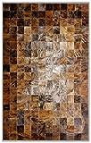 Sunshine Cowhides Teppich aus Kuhfell Patchwork, Farbe: Degrade Design Mix, Premium - Qualität von Pieles Del Sol aus Spanien (180 x 240 cm)