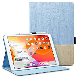 ESR Buchdeckel Hülle Kompatibel mit iPad 10,2 2019 Hülle für iPad 7. Generation - Leichtes Urban Premium Folio Case mit Pencilhalter, Vielseitigem Ansichtsmodus & Auto Schlaf/-Wachfunktion (Hellblau)