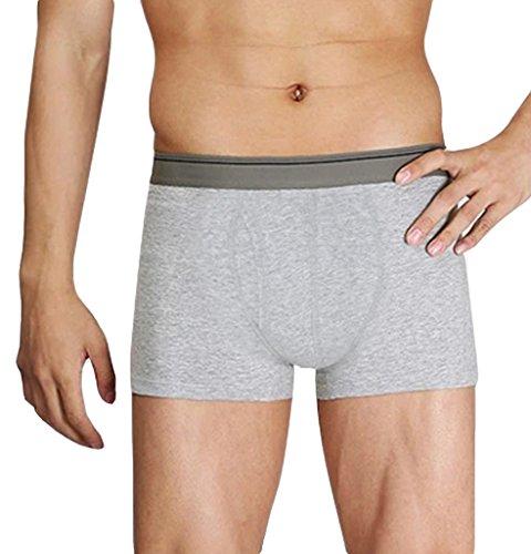 Skyrocket -  Boxer aderenti  - Uomo Grey-1 (7 Boxer Brief Underwear)