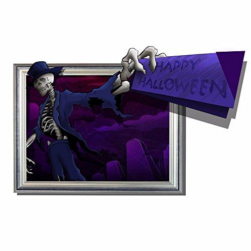Cartoon dekorative Malerei Schlafzimmer Wohnzimmer Fernseher Sofa Hintergrund HD-Dimensionalen 3D Wall Sticker Wallpaper (Halloween), 90 x 58 - Hd Halloween Wallpapers