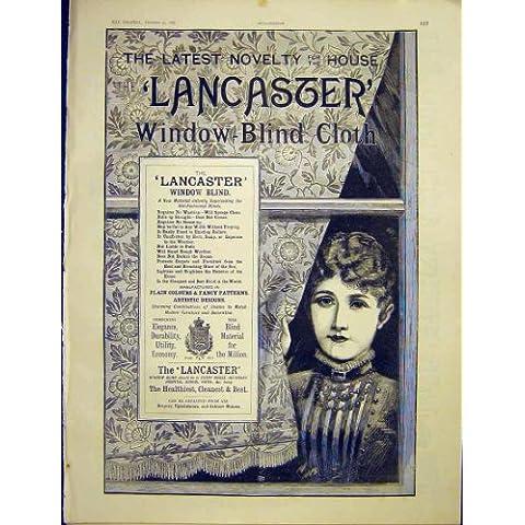 Stampa Finestra-Cieca 1887 del Panno di Lancaster dell'Annuncio