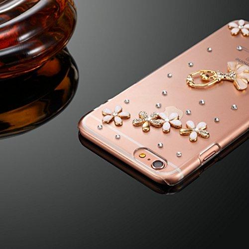 BING Für iPhone 6 Plus / 6s Plus Diamond Encrusted Bling Crown Pattern PC Schutzhülle Back Cover BING ( SKU : IP6P1003H ) IP6P1003C