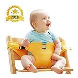 Bambino/neonato Deluxe sedia imbracatura di sicurezza: originale lavabile Squashable portatile da viaggio per cintura (colore casuale)
