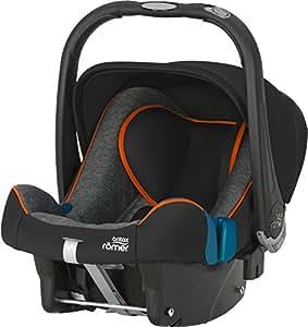 Britax Römer Babyschale BABY-SAFE PLUS SHR II, Gruppe 0+ (Geburt - 13 kg), Kollektion 2017, Black Marble
