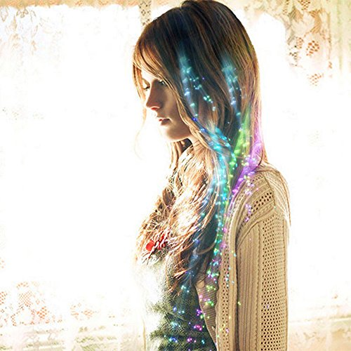 Sehr Cool Hair Ornamente, LED Fiber Scrunchies, 24 (Schmetterling)