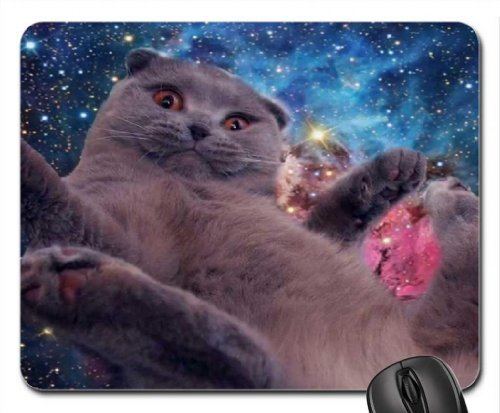space cat Mouse Pad, Mousepad (Cats Mouse Pad) Office Space Mouse Pad