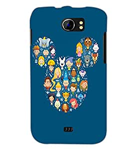 PrintDhaba Mickey Impression D-2394 Back Case Cover for MICROMAX A110 CANVAS 2 (Multi-Coloured)