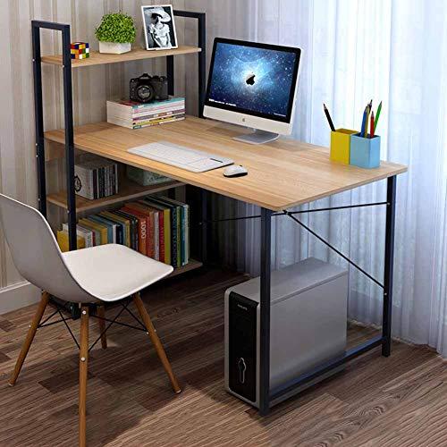 YQ WHJB Computertisch Mit Regale,Holz Computer Schreibtisch Mit Tastaturunterlage,Haushalt Office Pc-Arbeitsplatz Spieltisch-h 115x55cm(45x22inch) -
