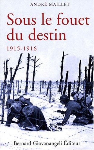 Sous le fouet du destin 1915-1916