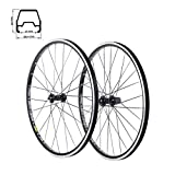 MV-TEK Paire Roues Aluminium VTT 26' TUBELESS XC Pair of wheels Noir V-brake Alluminium VTT 26' TUBELESS XC black V-brake
