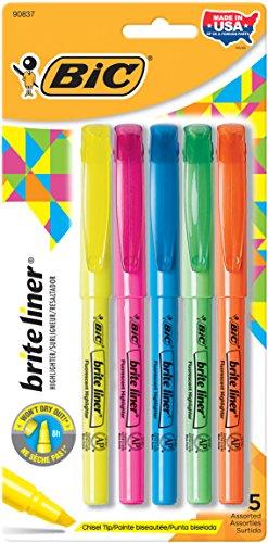 bic-brite-liner-surligneurs-fluorescents-5-pkg-divers-coloris