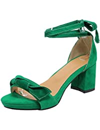 7c47bca6ae8 Zapatos Tacon Ancho - Verde   Sandalias de vestir   Zapatos para mujer