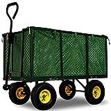 Generic RT Heavy Dutyuck Wagon carrello Wh Large Garden metal Wagon carriola ruota carrello a mano resistente grande da giardino in metallo
