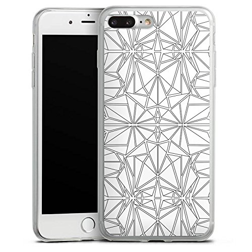 Apple iPhone X Slim Case Silikon Hülle Schutzhülle Grafik Linien Modern Silikon Slim Case transparent