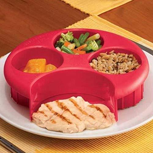 Placa de control de medición de la comida para pérdida de peso, dieta, plan de control de porciones, gestión de placa de control, rosso, talla única