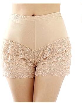 Donne delle signore elastiche sexy del merletto assetta Hot Shorts pantaloni delle calzamaglia delle ghette modali...
