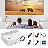 Home Cinema Projector, 4200 Lumens Portable LCD Projector Support Full HD 1080P WXGA Multimedia LED Projector Ideal for Home Theatre, Video Game, Outdoor Movie, PC Laptop Xbox Smartphone TV Box